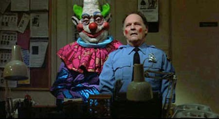 Still from Killer Klowns from Outer Space (1988)