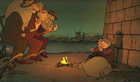 Still from The Triplets of Belleville